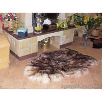 Коврик из овчины универсальный в бежево-коричневых тонах