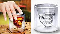Оригінальний стакан у вигляді черепа Skull Glass / Оригинальный стакан в виде черепа (череп трехмерный Doom), фото 1