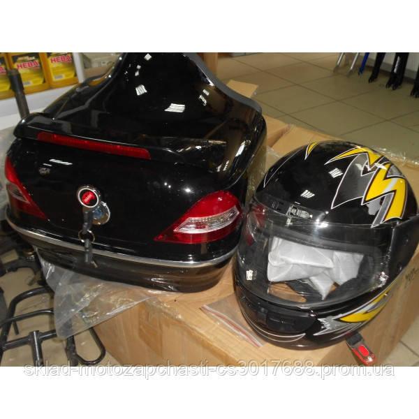 Кофра Мерседес с шлемом черная