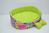 Лежак для собак и котов Акварель салатовый, фото 1