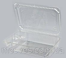 Упаковка универсальная для роллов и суши из PS и PET УК 47А
