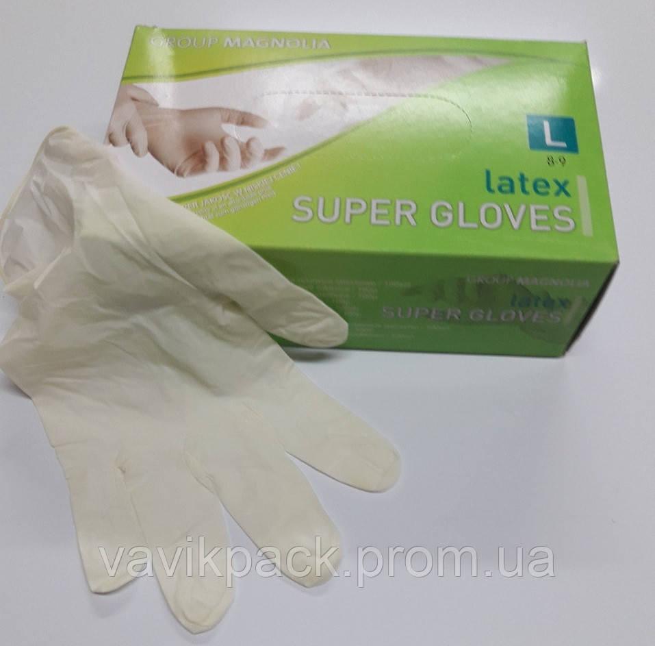 """Перчатка латексная""""Super Gloves """" Польша."""