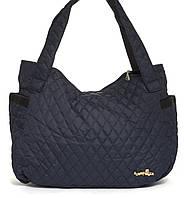 Спортивная вместительная женская стеганая сумка SUMKI MODA art. 29-2(103460) темно синяя, фото 1