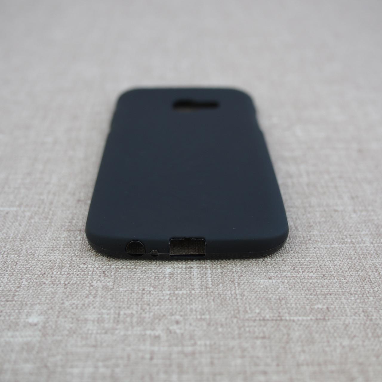 Чехол TPU Samsung A520 black Galaxy A5 (A520) 2017 Для телефона