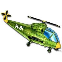 Фольгированный шар фигурный Вертолет 35 см Flexmetal Зеленый