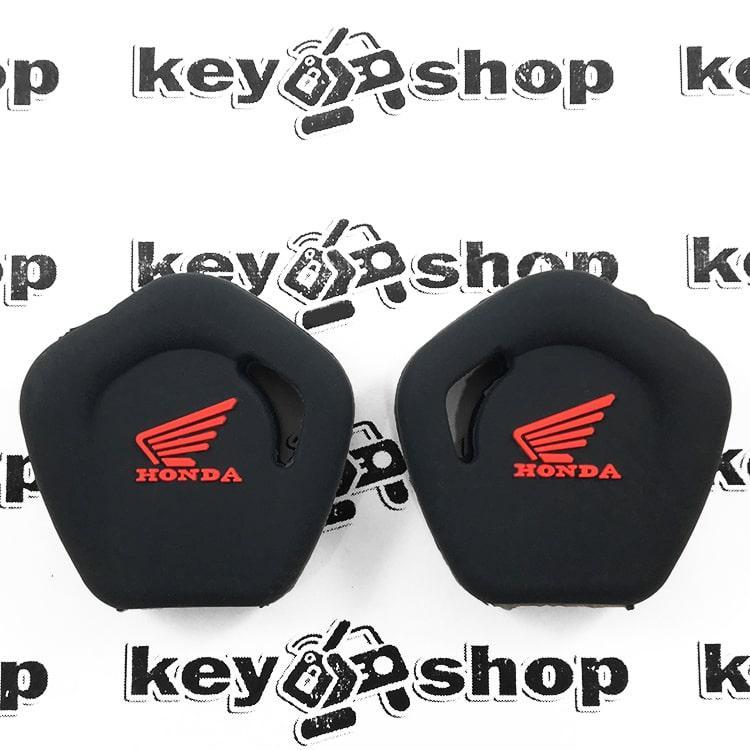 Чохол (чорний, силіконовий) для мото ключа Honda (Хонда)
