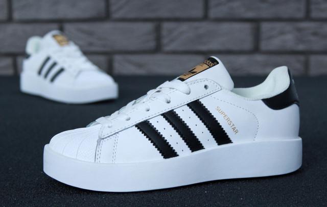 96ec21a8f9d8 Женские кроссовки Adidas Superstar Bold W (Ftwr White   Core Black ...