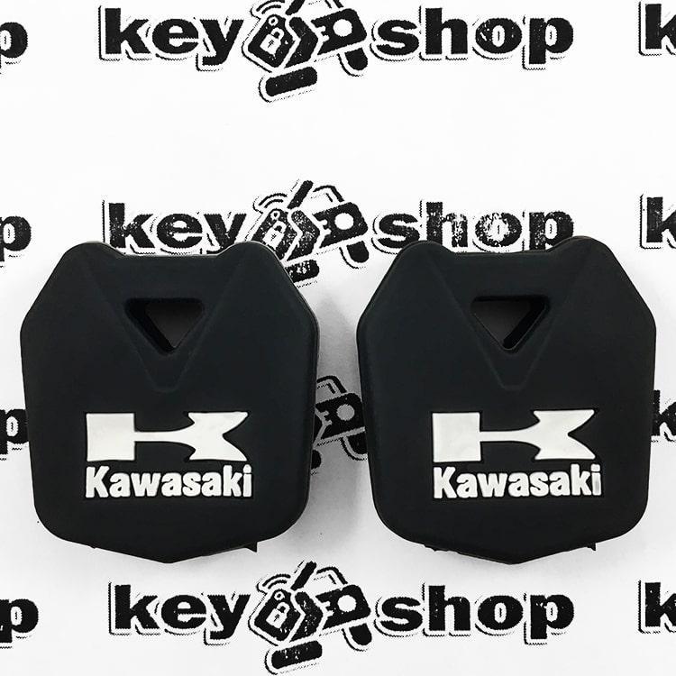 Чохол (чорний, силіконовий) для мото ключа Kawasaki (Кавасакі)