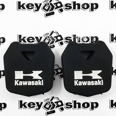 Чехол (черный, силиконовый) для мото ключа Kawasaki (Кавасаки), фото 2