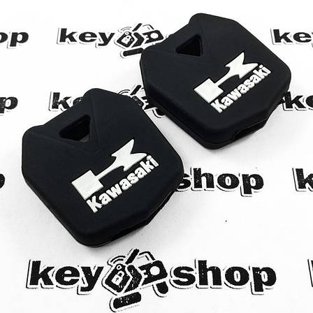 Чохол (чорний, силіконовий) для мото ключа Kawasaki (Кавасакі), фото 2