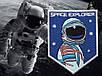 Патч нашивка Space Explorer 80х60 мм (Rotcho) USA, фото 2