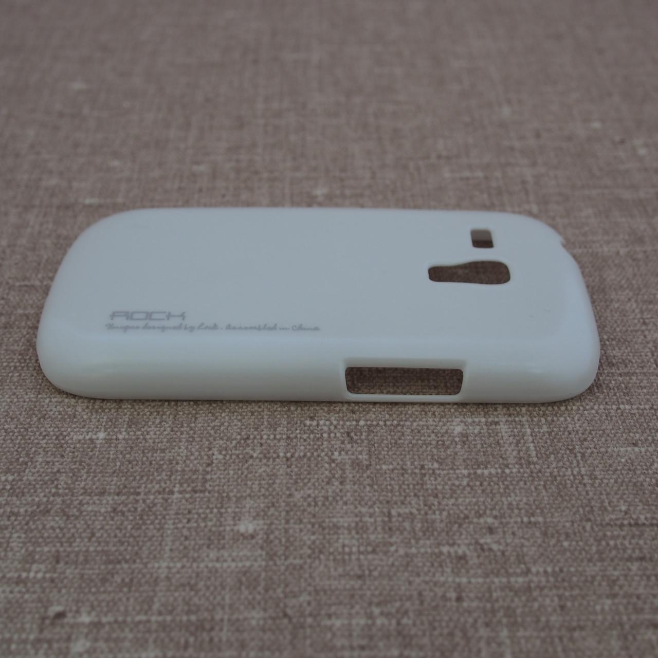 Чехлы для Galaxy S Series (остальные модели) ROCK New NakedShell Samsung S3 mini white Для телефона i8190