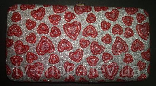 Сумочка-кошелек Блестящие сердечки