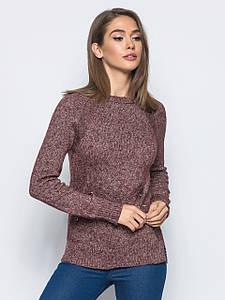 S-L / В'язаний жіночий светр Holly, бордовий
