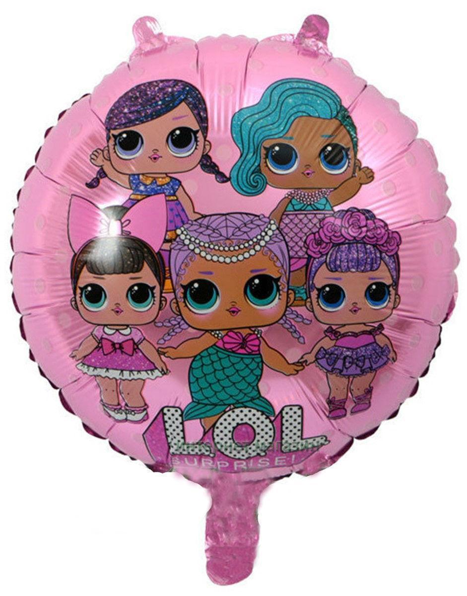 Фольгированный шарик ЛОЛ с гелием