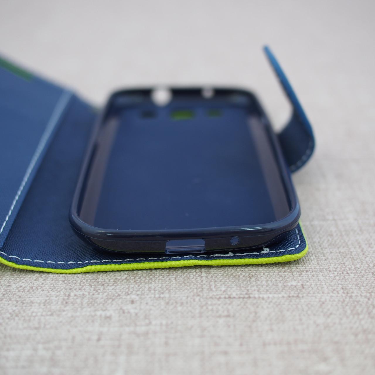 Чехол Goospery Fancy Diary Samsung S3 i9300 green Для телефона