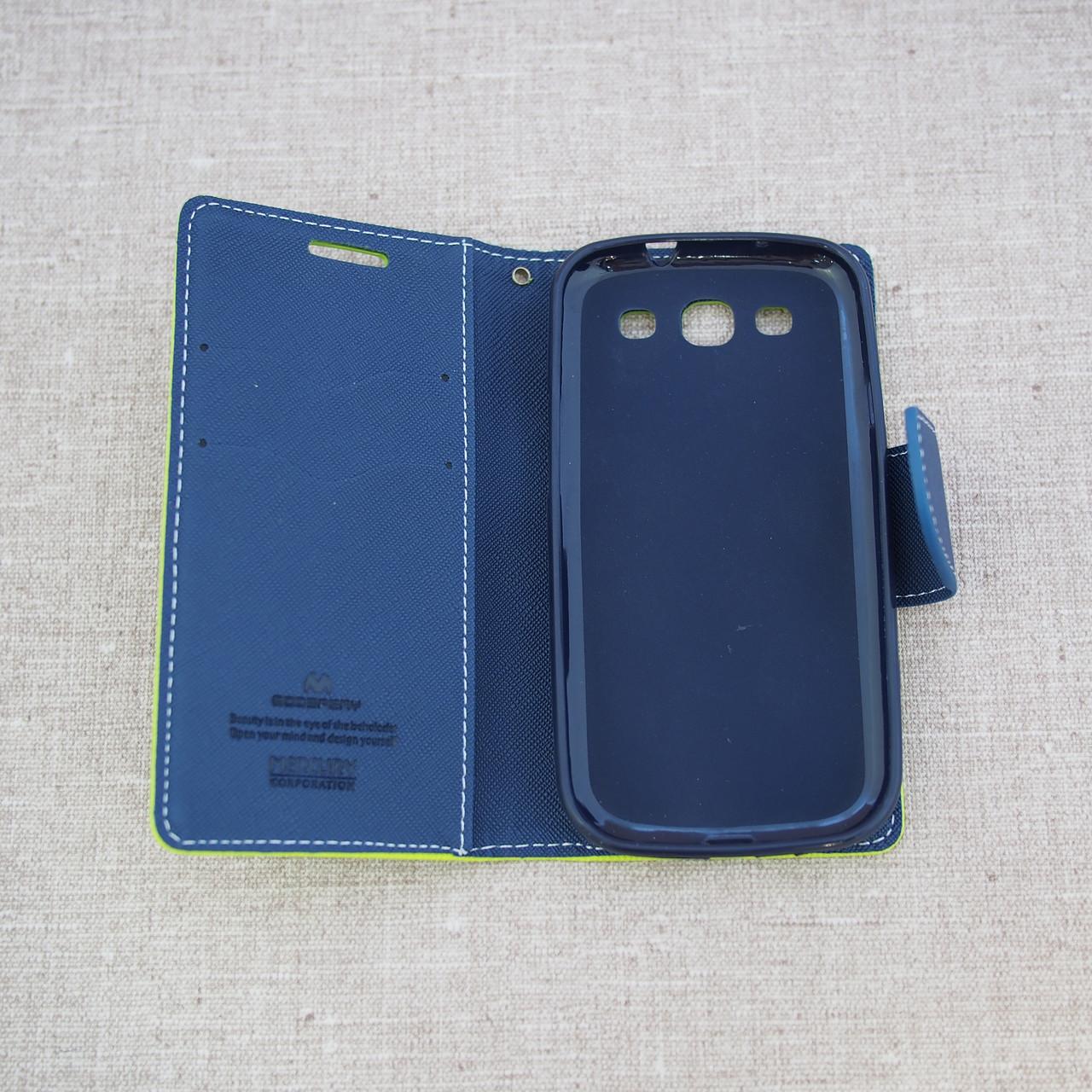 Чехлы для Galaxy S Series (остальные модели) Goospery Fancy Diary Samsung S3 i9300 green
