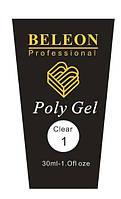 PolyGel Beleon №1 , 30 грамм-прозрачный, фото 1