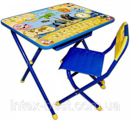 Набор детской трансформируемой мебели №3 Ну, погоди/синий