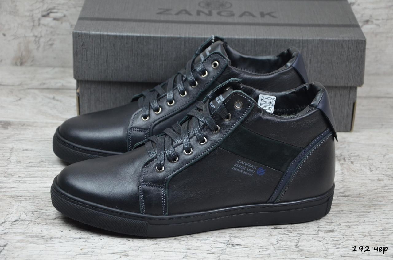 Мужские кожаные ботинки Zangak  (Реплика) (Код: 192 чер  ) ►Размеры [40,41,42,43,44,45]