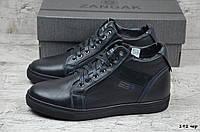 Мужские кожаные ботинки Zangak  (Реплика) (Код: 192 чер  ) ►Размеры [40,41,42,43,44,45], фото 1