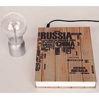 Левитационная лампа (Книжка Сountries) Левітаційна лампа книжка антигравитационная страны уникальная необычная, фото 3