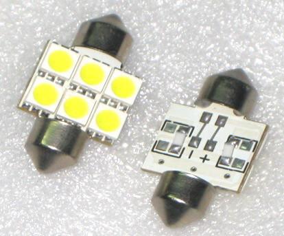 Лампа светодиодная T10-31-6SMD (5050), 31мм