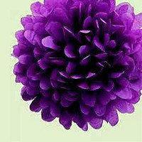 Помпон фиолетовый 35  см