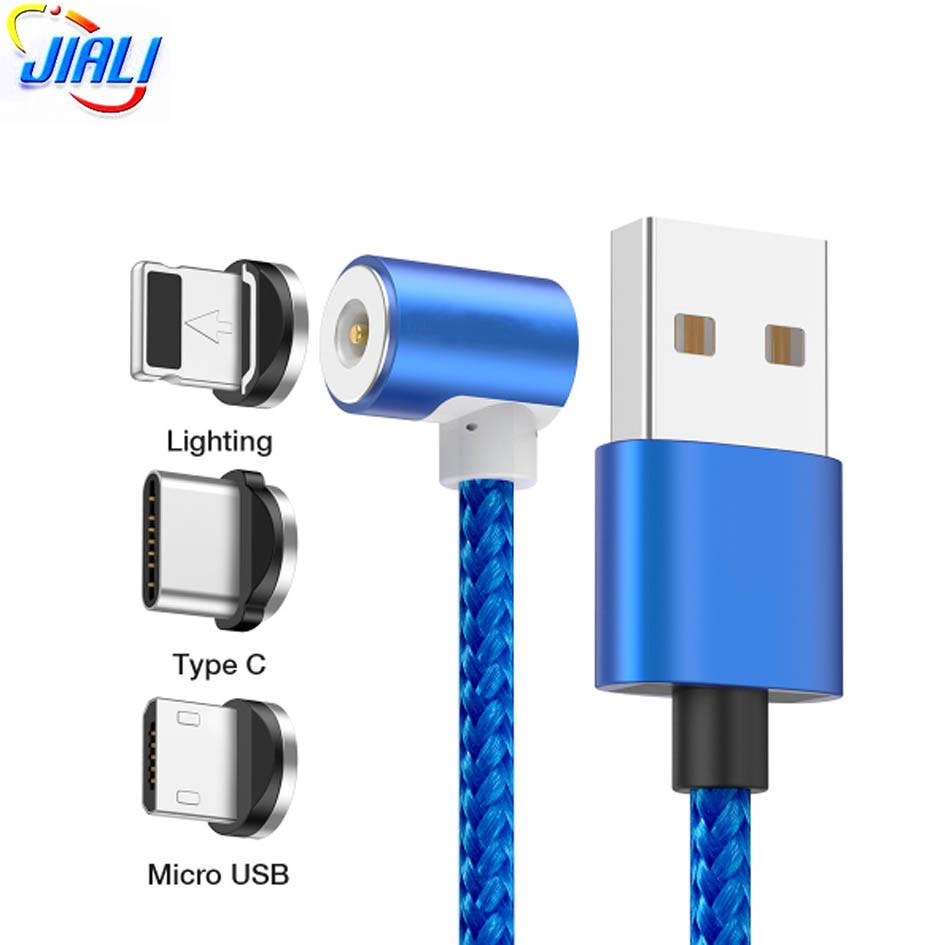 Магнитный кабель для зарядки и передачи данных 3 в 1 Led Metal Magnetic Cable 360°