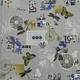 Декоративная ткань, принт серый, фото 2