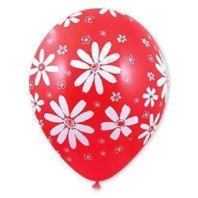 Латексный воздушный шар Ромашки c гелием