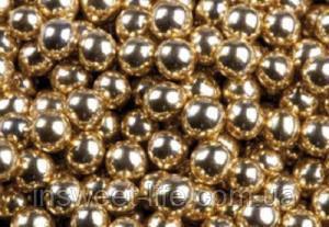 Сахарные жемчужины  золото 8мм