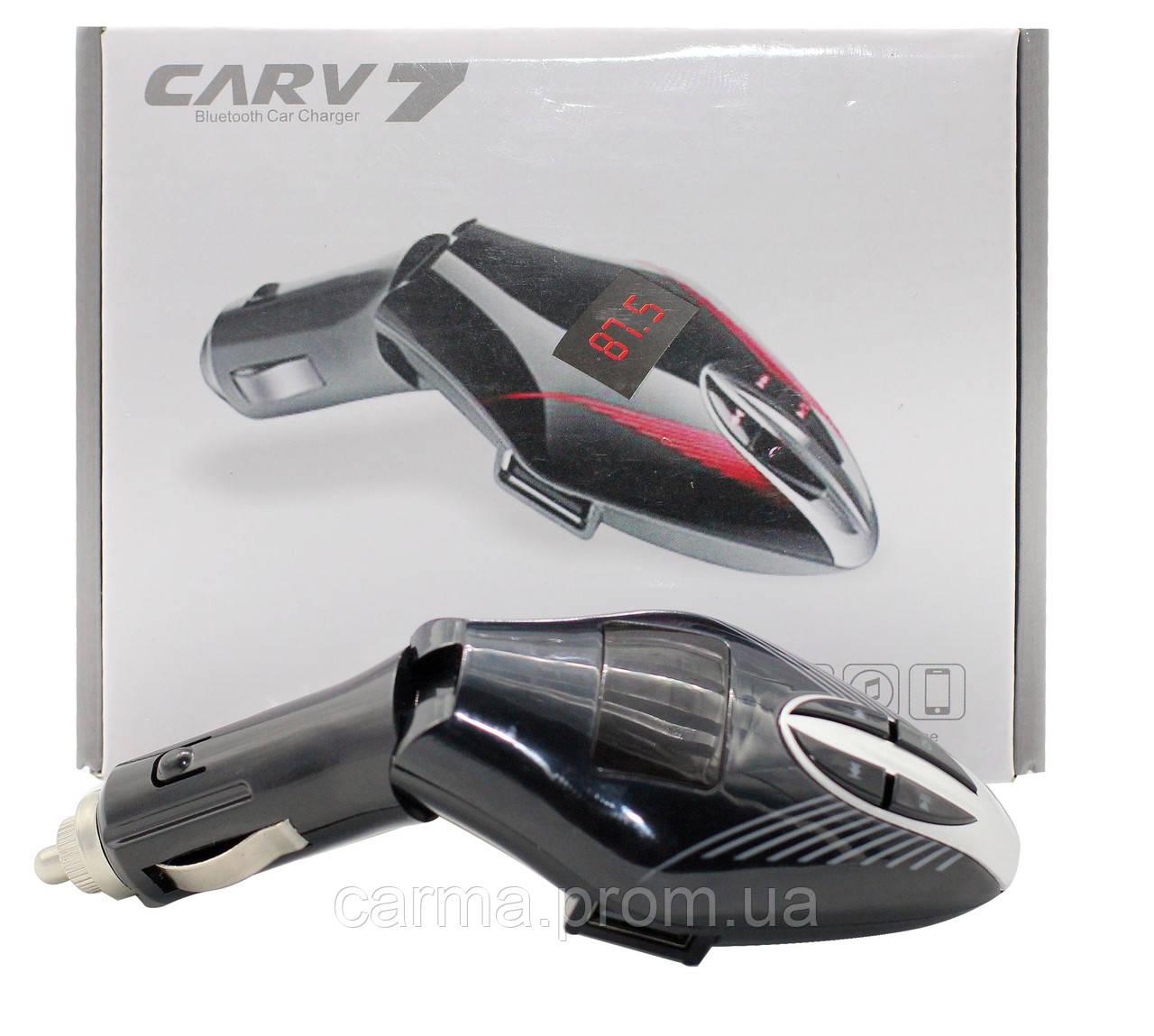 FM трансмиттер модулятор авто МР3 Bluetooth Carv7