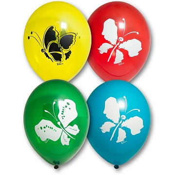 Латексный воздушный шар Бабочкиc гелием