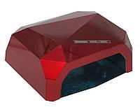 Лампа для маникюра гибридная DIAMOND CCFL+LED 36W Красная, фото 1