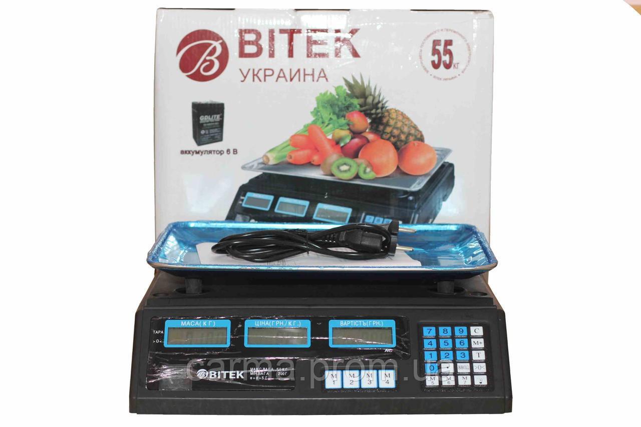 Весы электронные торговые BITEK 55 кг