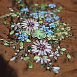 Наволочка декоративная с  вышивкой, коричневый, фото 2