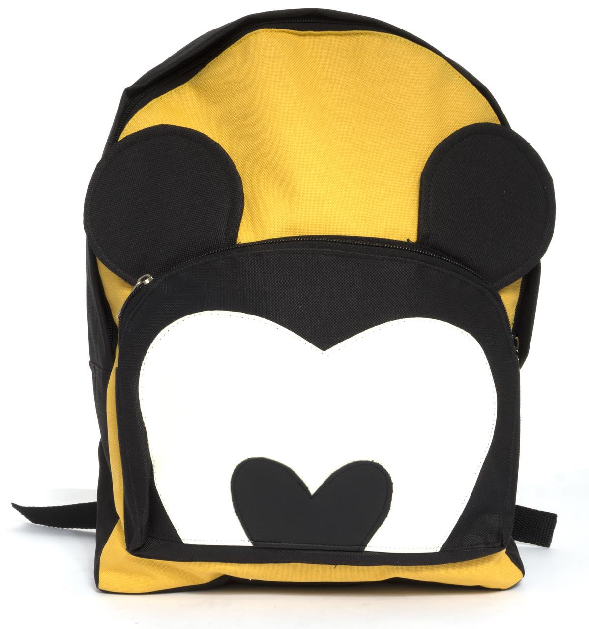 Интересный тканевый рюкзак с Микки Маусом art. 15-14 (103505) черный/желтый