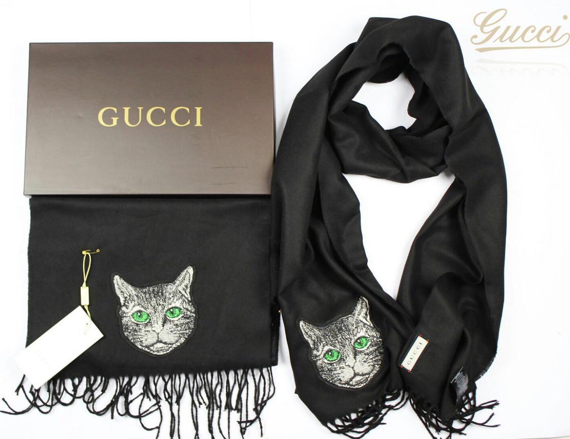 Шарф Gucci D4620 черный