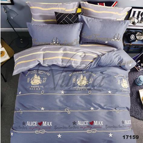 17159 Двуспальное постельное белье ранфорс Viluta, фото 2