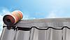 Коньковая лента для гидроизоляции и вентиляции стыков на коньке