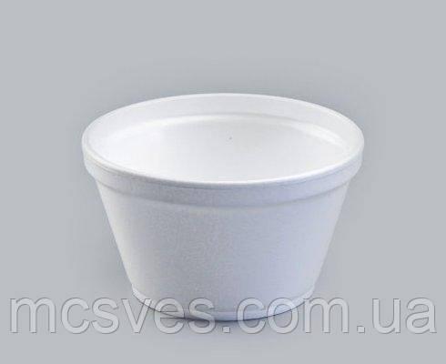Емкость супная из вспененного полистирола с крышкой EPS, 350 мл 12OZ