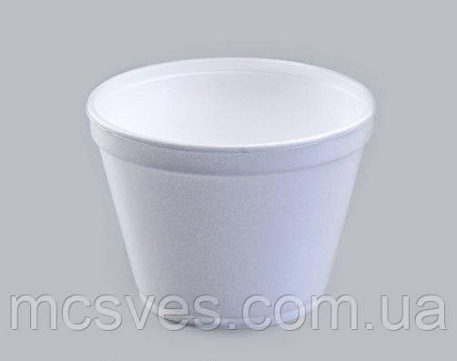 Емкость супная из вспененного полистирола с крышкой EPS, 450 мл 16OZ