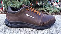 Кожаные модные мужские кроссовки  Reebok , коричневые