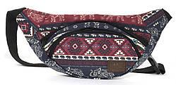 Интересная прочная сумкана пояс (Бананка) art. 67(103373) цветная Украина