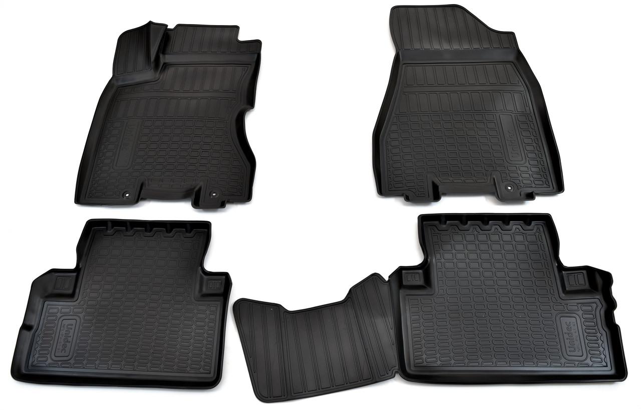 Килимки в салон для Nissan X-Trail (T31) (07-) (полиур., компл - 4шт) NPL-Po-61-81
