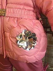 Утепленный практичный детский комбинезон для девочек, фото 3