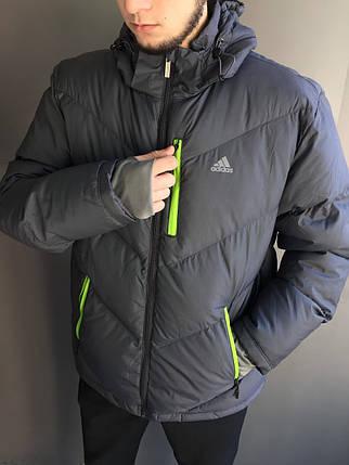 Мужской зимний пуховик пуховик Adidas, фото 2