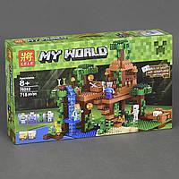 Конструктор Lele 79282 Домик на дереве в джунглях (аналог Lego Майнкрафт, Minecraft 21125), 718 дет, фото 1