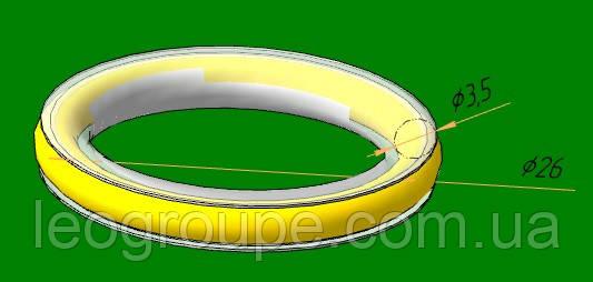 Бесшумная встака 16мм для металлического кольца